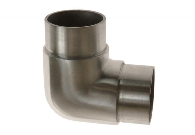 (9) Kolanko 90st. wklejane na rurę D=42,4x2 mm, AISI304 (kątowe zaokr.)