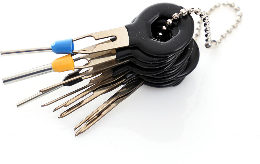 Klucze, wyjmaki do pinów, zestaw do demontażu pinów, 11 SZT