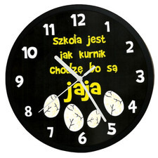 Zegar czarny humor dla ucznia