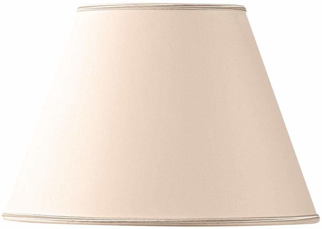 Stożkowy klosz z tkaniny o średnicy 35 x 18 x 24 cm beżowy/różowy