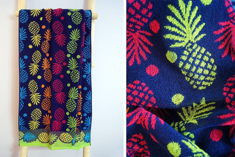 Ręcznik plażowy Greno Ananas Niebieski