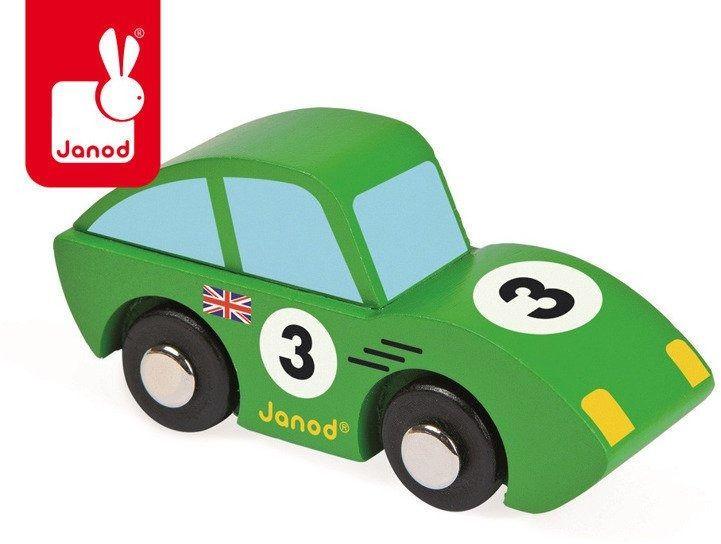 Wyścigówka drewniana roadster zielona