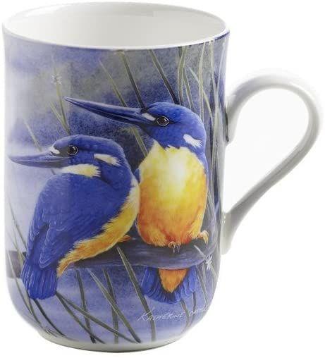 Maxwell & Williams PBD030 Birds of Australia kubek, kubek do kawy, filiżanka z motywem ptaka: lazury, w pudełku prezentowym, porcelana