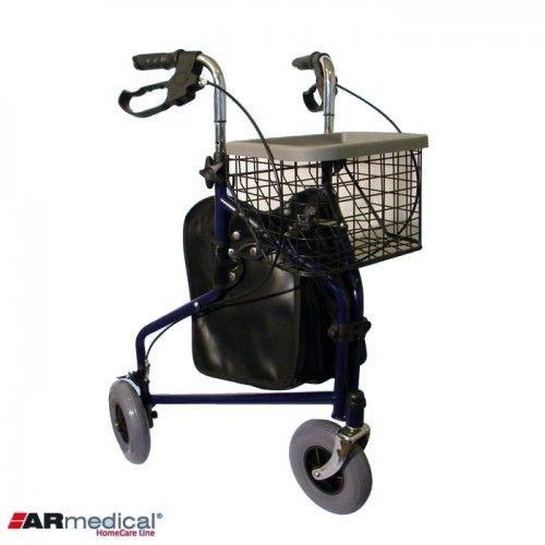 Balkonik trójkołowy z torbą i koszykiem AR-004 ARmedical