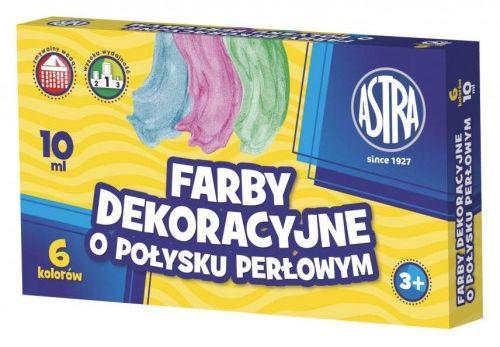 Farby plakatowe ASTRA 6 kolorów perłowe 10ml.83411902