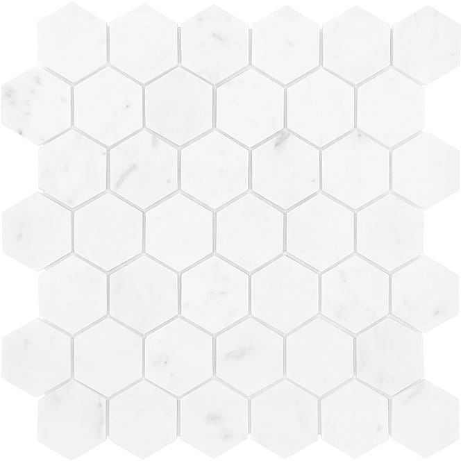 DUNIN Carrara mozaika kamienna CARRARA WHITE HEXAGON 48