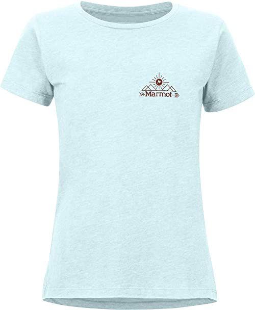 Marmot Damska koszulka Arrow T-shirt damski niebieski Corydalis Blue Heather S