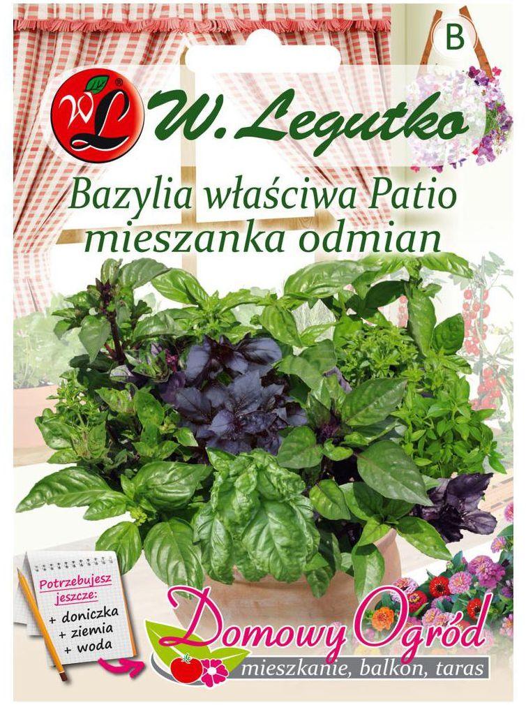 Bazylia właściwa Patio MIESZANKA ODMIAN nasiona tradycyjne 0.5 g W. LEGUTKO