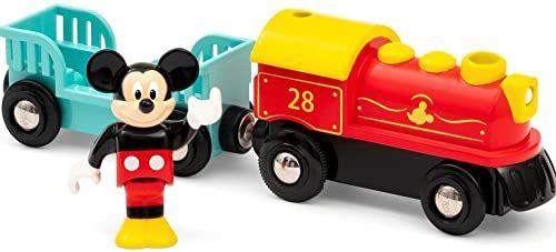 BRIO Disney Myszka Miki Pociąg zasilany baterią dla dzieci w wieku od 3 lat - kompatybilny ze wszystkimi zestawami kolejowymi BRIO