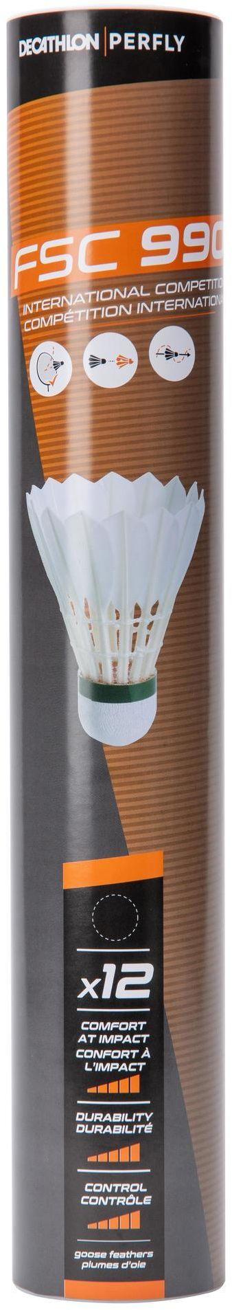 Lotki do badmintona z piór FSC 990 x12 (SZYBKOŚĆ 78)
