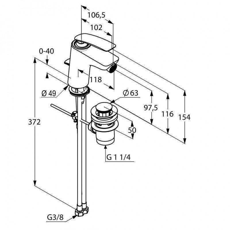 Balance Kludi bateria bidetowa z zestawem odpływowym chrom Darmowa dostawa