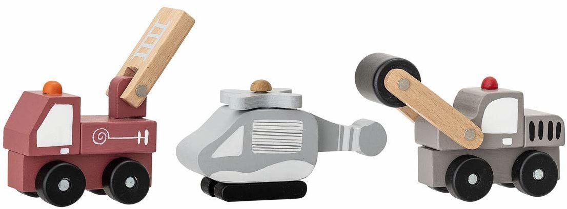 Bloomingville Mini Ariston 3-częściowy zestaw zabawek z płyty MDF wielokolorowe  8 x 5,5 / 12 x 8 x 5,5 / 13 x 8 x 5,5 cm (dł./wys./szer.)