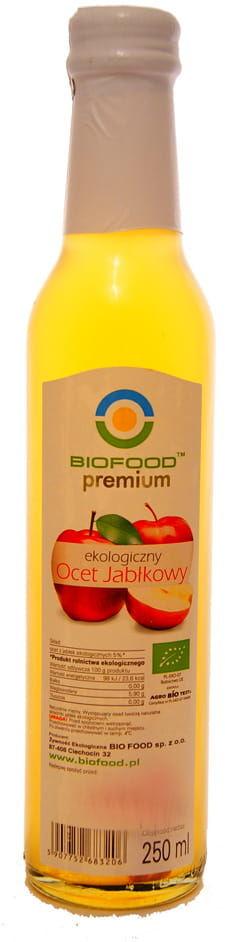 Ocet jabłkowy ekologiczny BIO - Biofood - 250ml