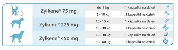 VETOQUINOL Zylkene 75mg - 10 tabletek dla kotów i psów o wadze do 10 kg