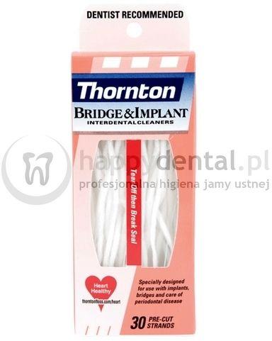THORNTON (ProxySoft) Bridge&Implant 30szt. - nić dentystyczna z grubą gąbką czyszczącą