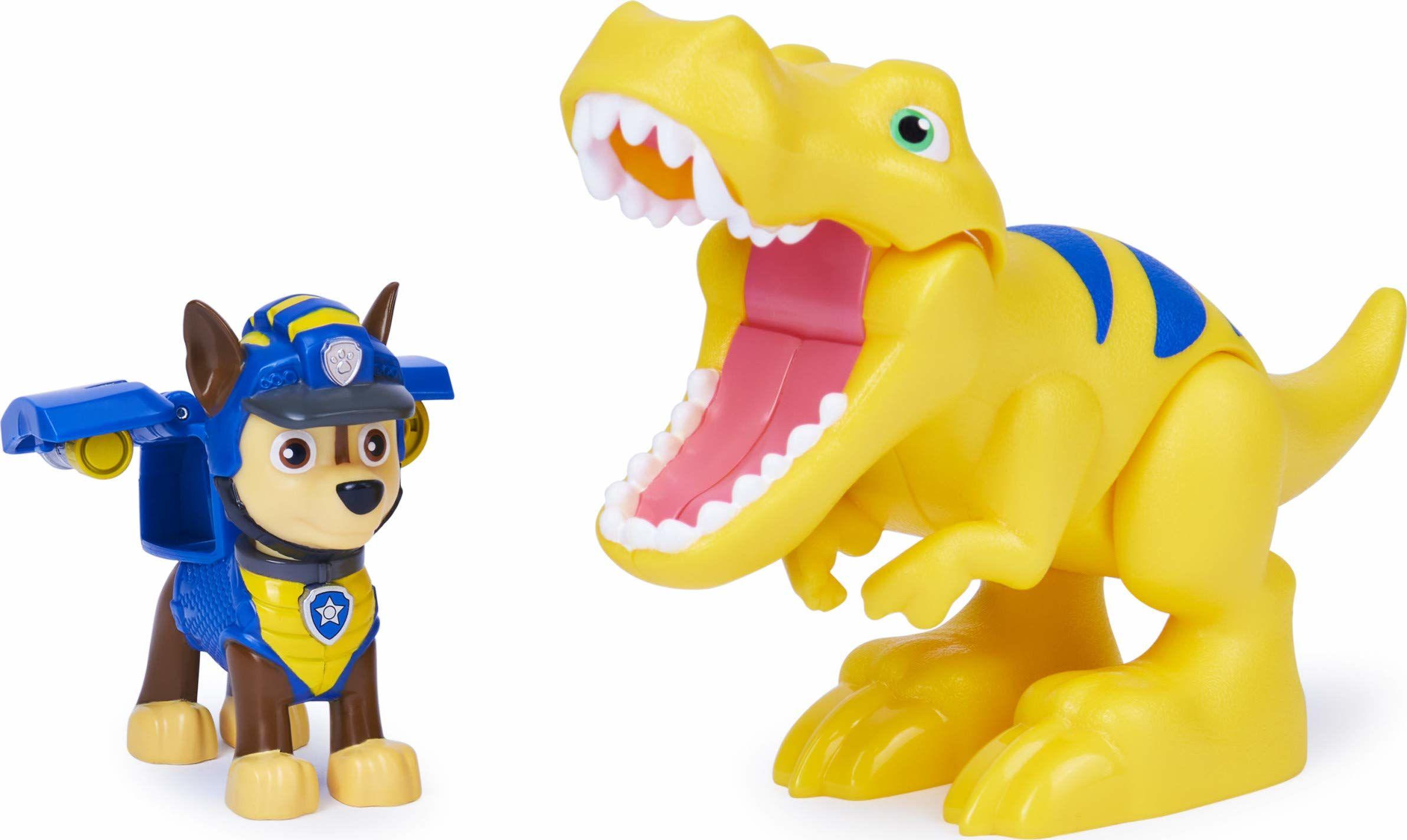 PAW Patrol Dino Rescue Chase i dinozaur zestaw figurek akcji dla dzieci od 3 lat