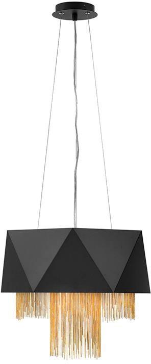 Lampa wisząca Zuma satynowa czerń/ Złoto HK-ZUMA6-SBG - Elstead