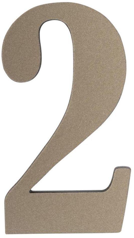 Cyfra 2 wys. 5 cm PVC srebrna