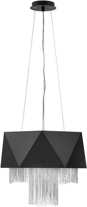 Lampa wisząca Zuma satynowa czerń/ Srebro HK-ZUMA6-SBS - Elstead