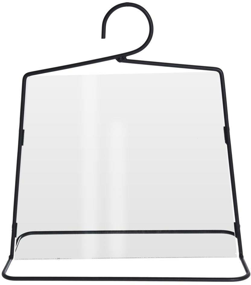 Lustro lusterko ścienne NA HAKU w metalowe czarnej ramie trapez