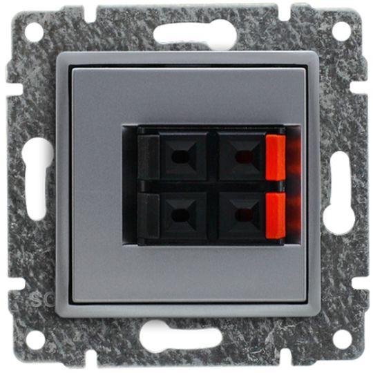 VENA Gniazdo głośnikowe podwójne aluminium 514071