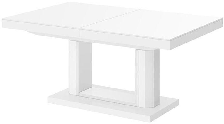 Rozkładany ławostół biały połysk - Havier 3X