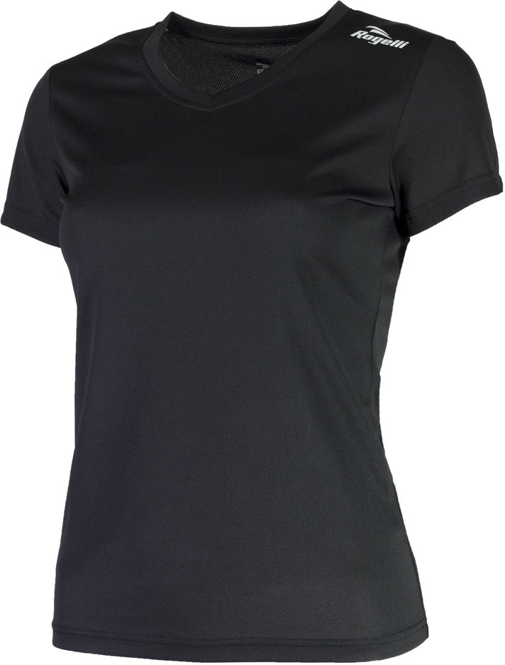 ROGELLI RUN PROMOTION 801.223 - damska koszulka do biegania, czarna Rozmiar: S,promoption-lady-801.223-black