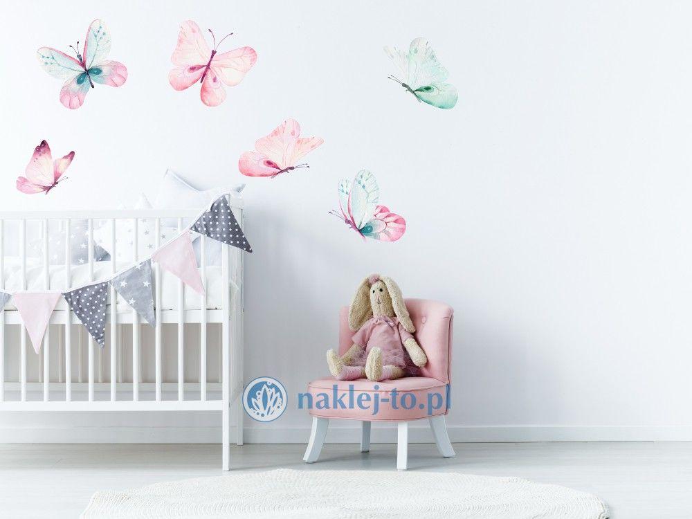 naklejka motyle kolorowe motyle