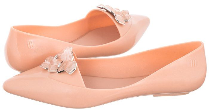 Baleriny Melissa Pointy Stones AD 32858/50716 Pink Glitter (ML159-a)