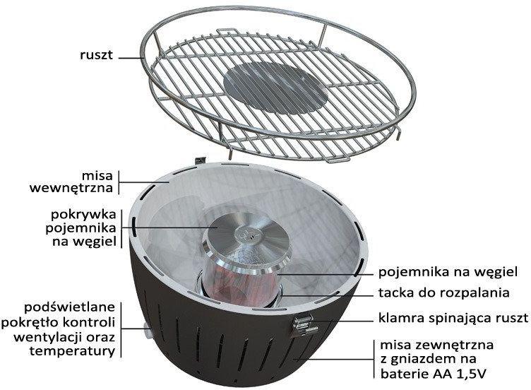 Lotusgrill  wymienny pojemnik na węgiel do grilla xl