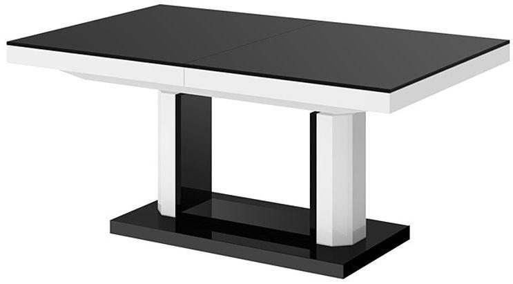 Rozkładany ławostół czarno biały połysk - Havier 3X