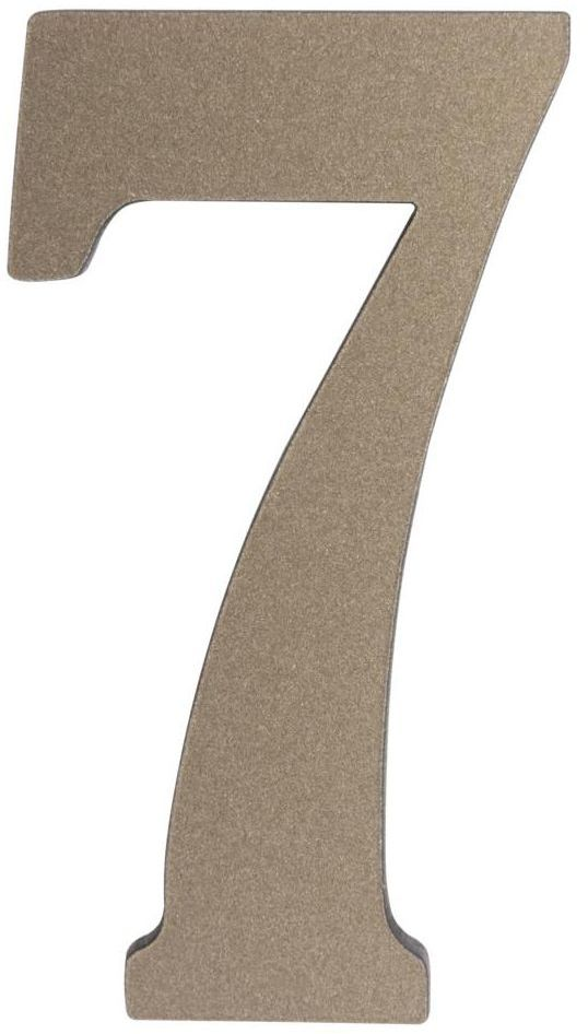 Cyfra 7 wys. 5 cm PVC srebrna