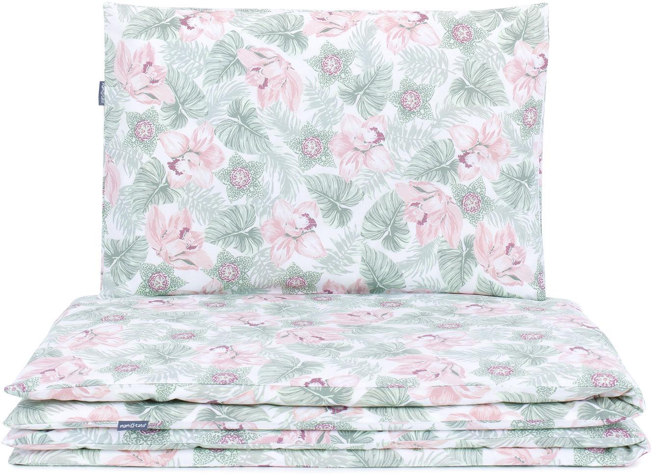 MAMO-TATO Komplet pościeli 140x200 - Kwiaty w liściach