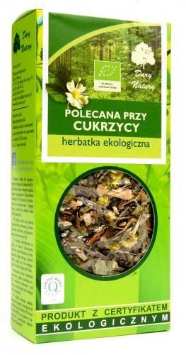 Herbatka polecana PRZY CUKRZYCY BIO 50g Dary Natury