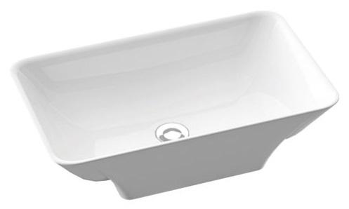 Marmorin Loren umywalka nablatowa 60x36 cm biały połysk PU0560105960000003