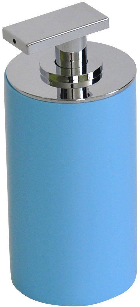 Grund PICCOLO dozownik mydła 7 x 7 x 15,5 cm jasnoniebieskie akcesoria, 100% żywica poliestrowa, 7 x 7 x 15,5 cm