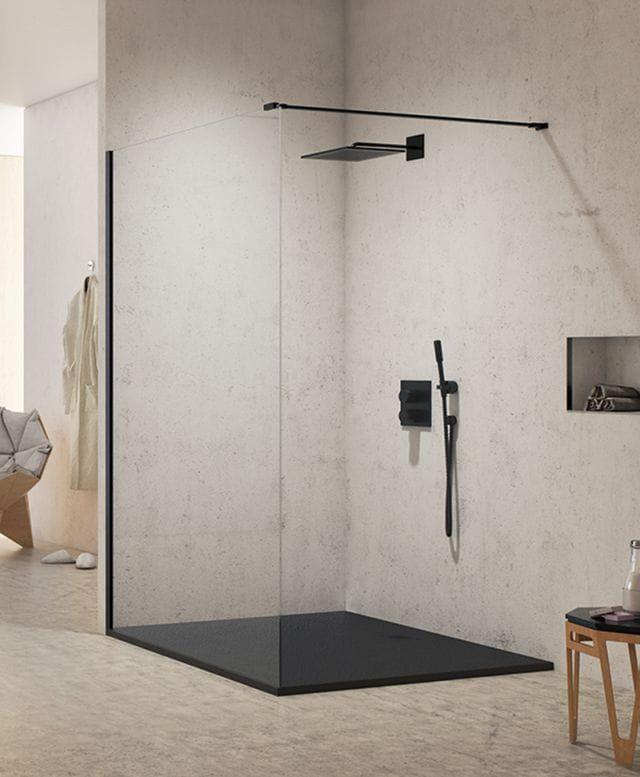 Kabina prysznicowa Walk-In New Trendy New Modus Black 90 cm, wys. 200 cm, szkło czyste 8 mm EXK-0058