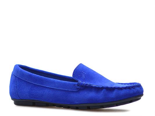 Mokasyny CheBello 2260-076 Niebieskie zamsz