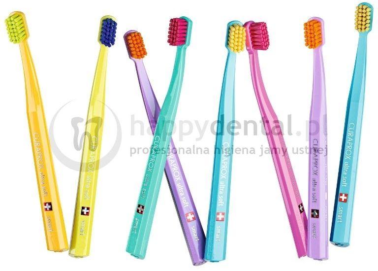 CURAPROX 7600 SMART (CELLO) - kolorowa, ultra miękka szczoteczka do ząbków dla dzieci od 4 do 12 lat (miękkie opakowanie foliowe)