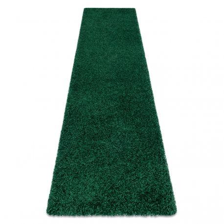 Dywan, Chodnik SOFFI shaggy 5cm butelkowa zieleń - do kuchni, przedpokoju, na korytarz 60x100 cm