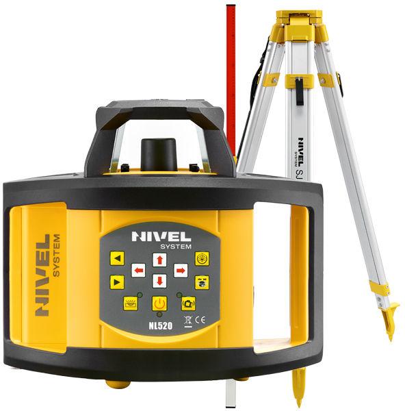 Niwelator laserowy Nivel System NL520 + statyw + łata