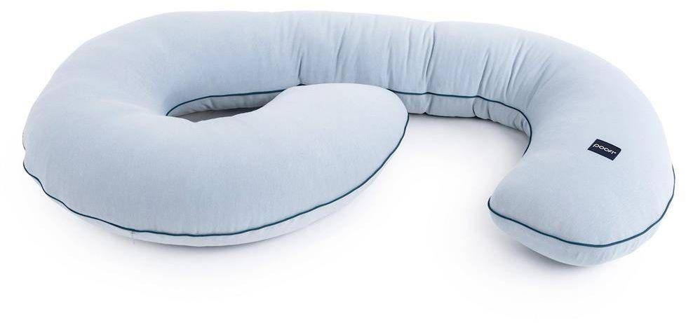 Poduszka ciążowa organic kolor: dusty blue, poofi