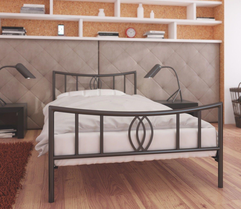 Łóżko metalowe 80x190 wzór 11 ze stelażem