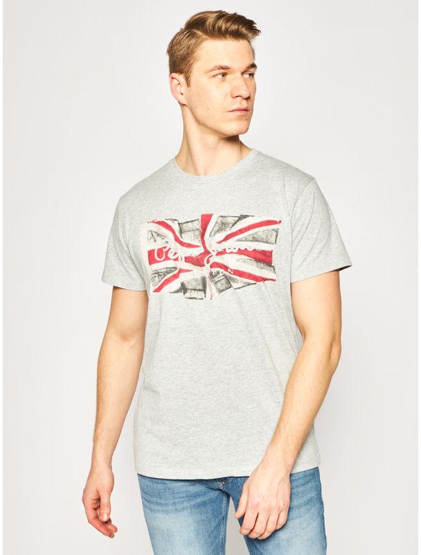 Pepe Jeans T-Shirt PM505671 Szary Regular Fit