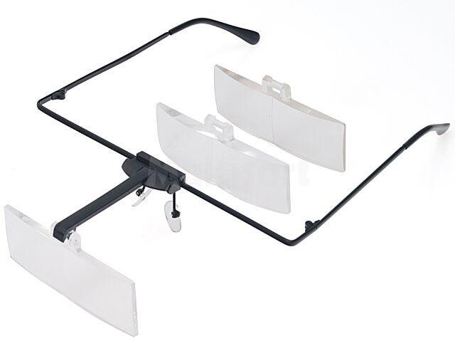 Lekkie okulary powiększające z wymiennymi soczewkami