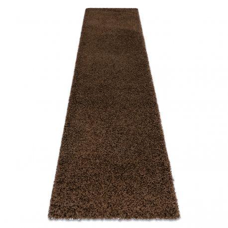 Dywan, Chodnik SOFFI shaggy 5cm brązowy - do kuchni, przedpokoju, na korytarz 60x100 cm