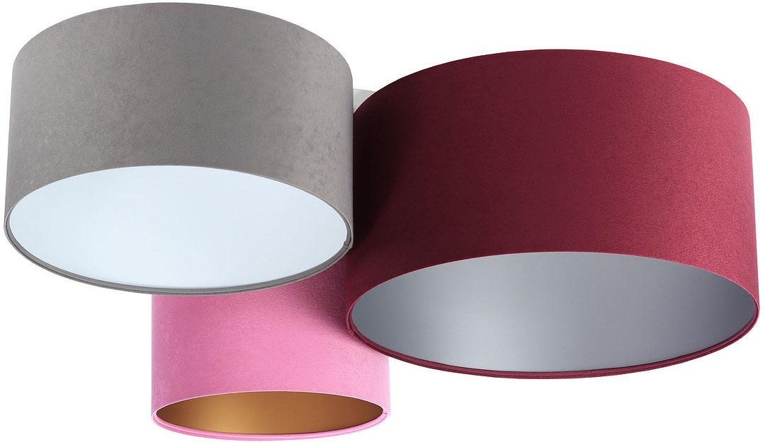 Kolorowy potrójny plafon welurowy - EXX64-Muria