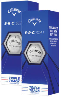Piłki golfowe CALLAWAY ERC SOFT Triple Track (białe, 6 szt.)