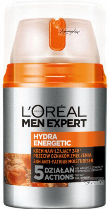 L''Oréal - MEN EXPERT - HYDRA ENERGETIC - 24H ANTI-FATIGUE MOISTURISER - Nawilzający krem do twarzy przeciw oznakom zmęczenia - 50 ml