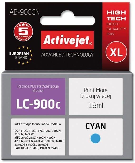 Tusz Activejet AB-900CN (zamiennik Brother LC900C; Supreme; 17.5 ml; niebieski)